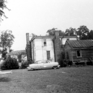 View with outbuilding, Peebles House, Kinston, North Carolina