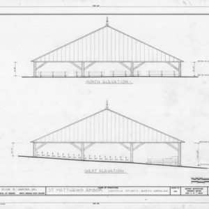 North and west elevations, St. Matthews Reformed Church and Arbor, Lincoln County, North Carolina