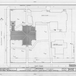 Site plan, Christ Church, Raleigh, North Carolina