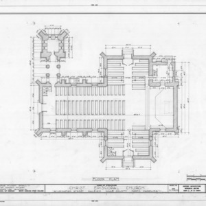 Floor plan, Christ Church, Raleigh, North Carolina