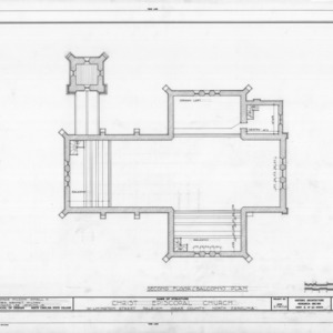 Balcony plan, Christ Church, Raleigh, North Carolina