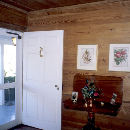 Interior view with door, Faucette House (Chatwood), Orange County, North Carolina