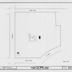 Site plan, Hill-Webb House Kitchen, Hillsborough, North Carolina