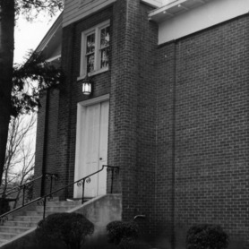 Partial view, Hillsborough Methodist Church, Hillsborough, North Carolina
