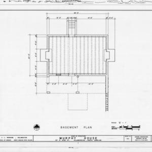 Basement plan, Seven Hearths, Hillsborough, North Carolina