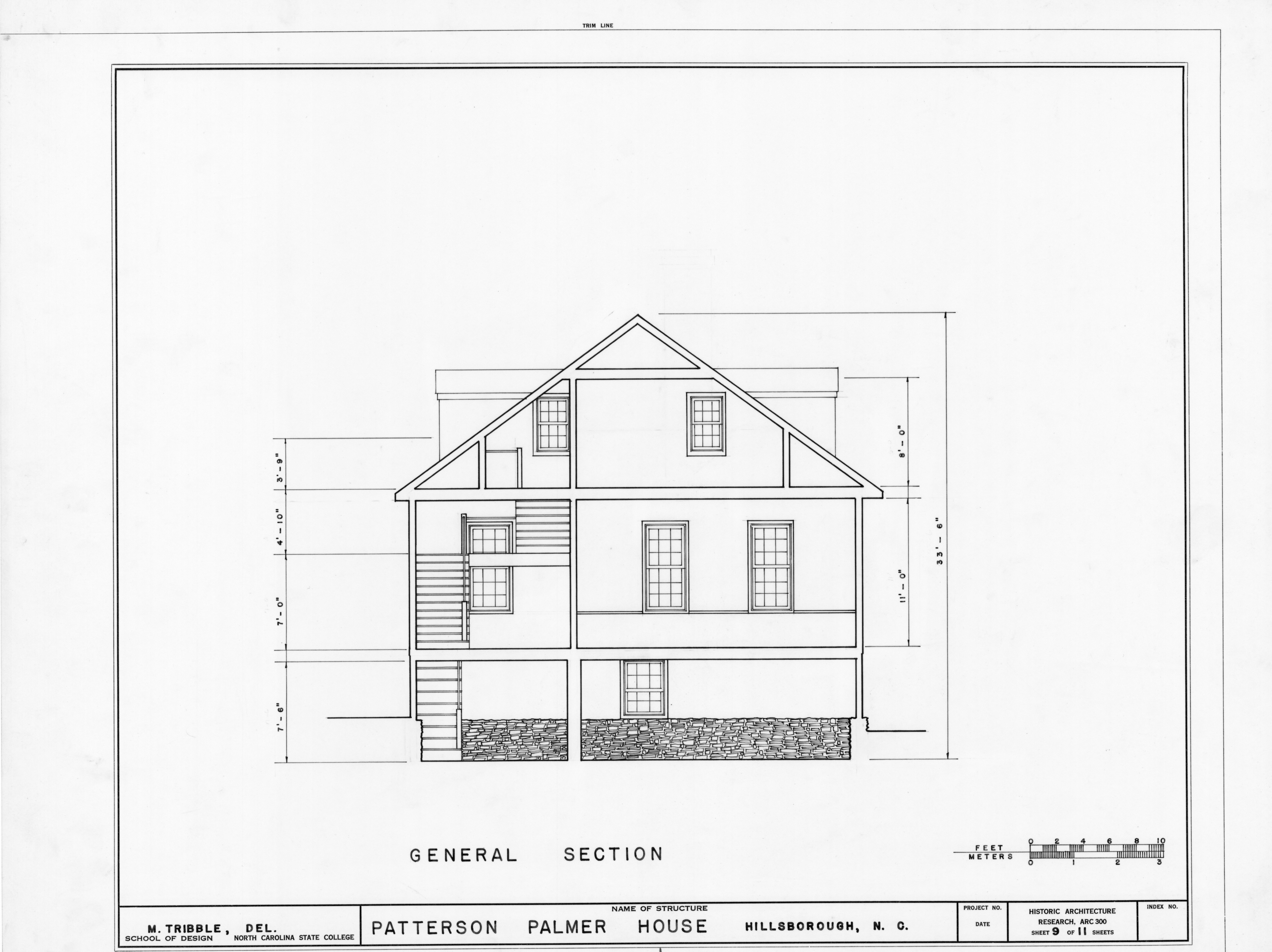 Cross Section Drawing of a House Cross Section Drawing of a