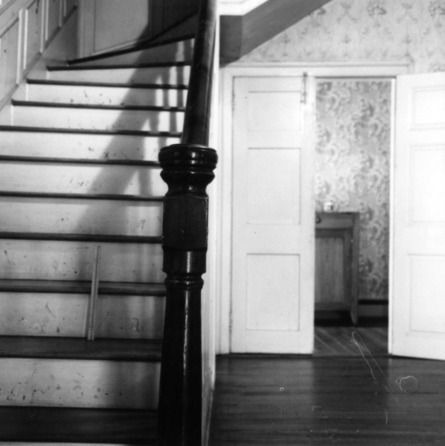 Interior view with stairs, Sans Souci, Hillsborough, North Carolina