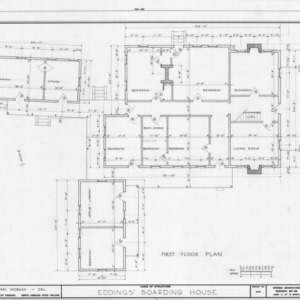 First floor plan, Eddins House, Palmerville, North Carolina