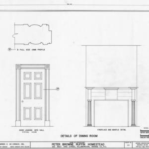 Dining room details, Ruffin-Snipes House, Hillsborough, North Carolina
