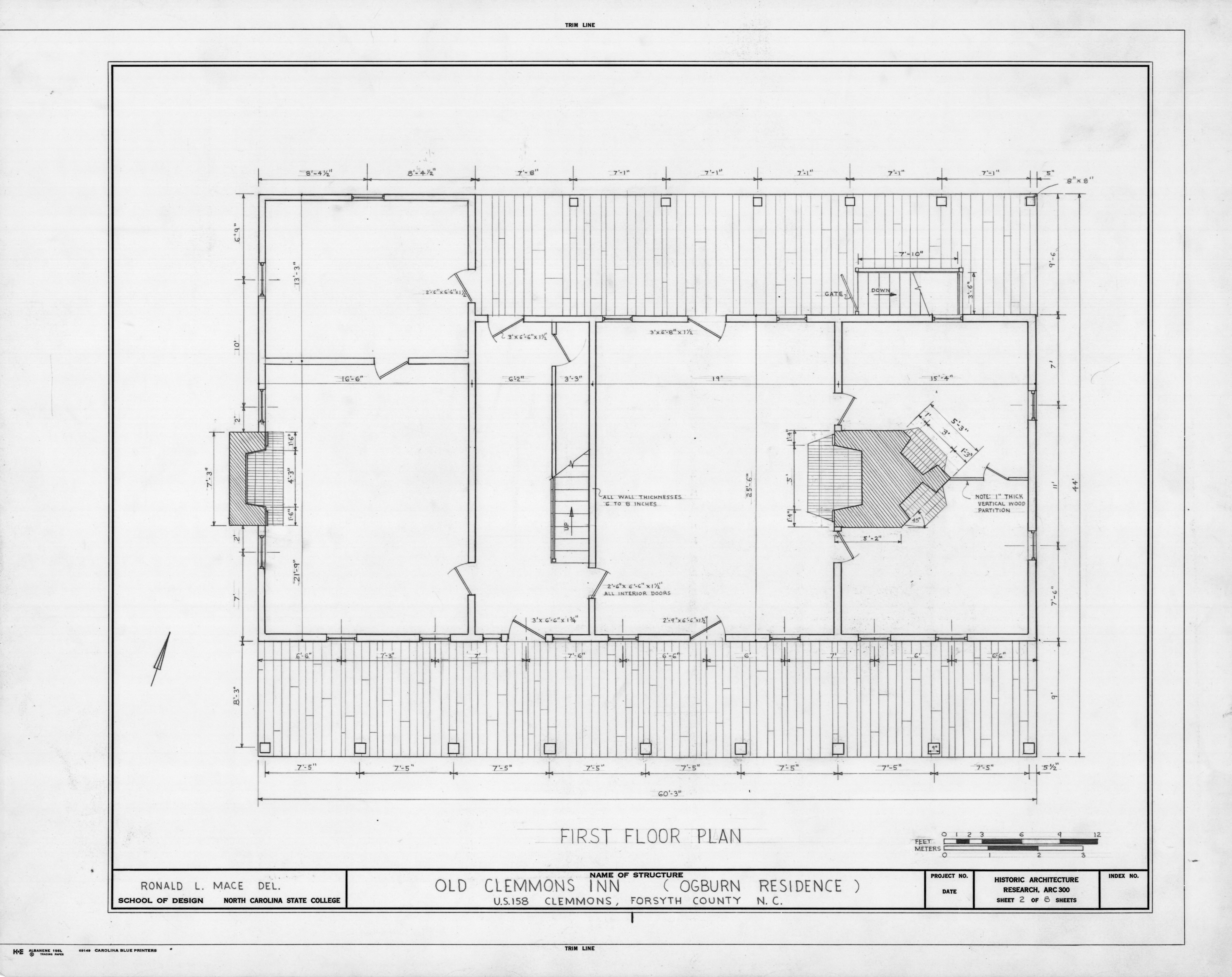 First Floor Plan Peter Clemmons House Clemmons North