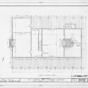 First floor plan, Peter Clemmons House, Clemmons, North Carolina