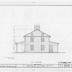 East elevation, Peter Clemmons House, Clemmons, North Carolina