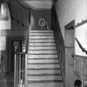 Interior view with stairs, Ayr Mount, Hillsborough, North Carolina