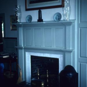 Fireplace, Ayr Mount, Hillsborough,  Orange County, North Carolina