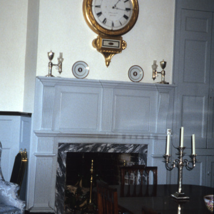 Interior view with mantel, Ayr Mount, Hillsborough,  Orange County, North Carolina