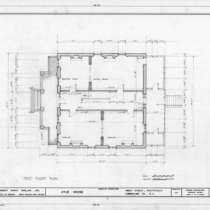First floor plan, Kyle House, Fayetteville, North Carolina