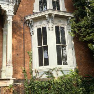 Bay window, Dodd-Hinsdale House, Raleigh, Wake County, North Carolina
