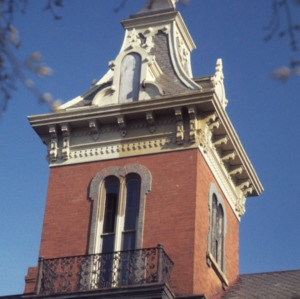 Tower with balcony, Dodd-Hinsdale House, Raleigh, Wake County, North Carolina