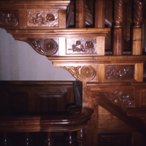 Stair detail, Dodd-Hinsdale House, Raleigh, Wake County, North Carolina