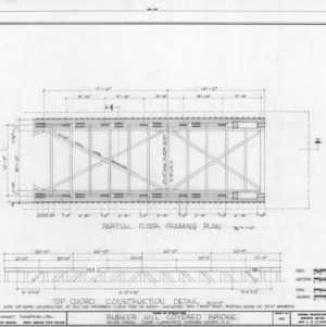 Partial framing plan and construction detail, Bunker Hill Covered Bridge, Catawba County, North Carolina