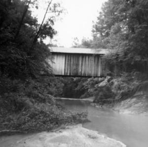 Side view, Bunker Hill Covered Bridge, Catawba County, North Carolina