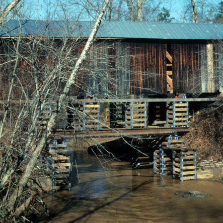 Side view, Bunker Hill Covered Bridge, Catawba County, North Carolina
