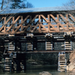 Framing, Bunker Hill Covered Bridge, Catawba County, North Carolina