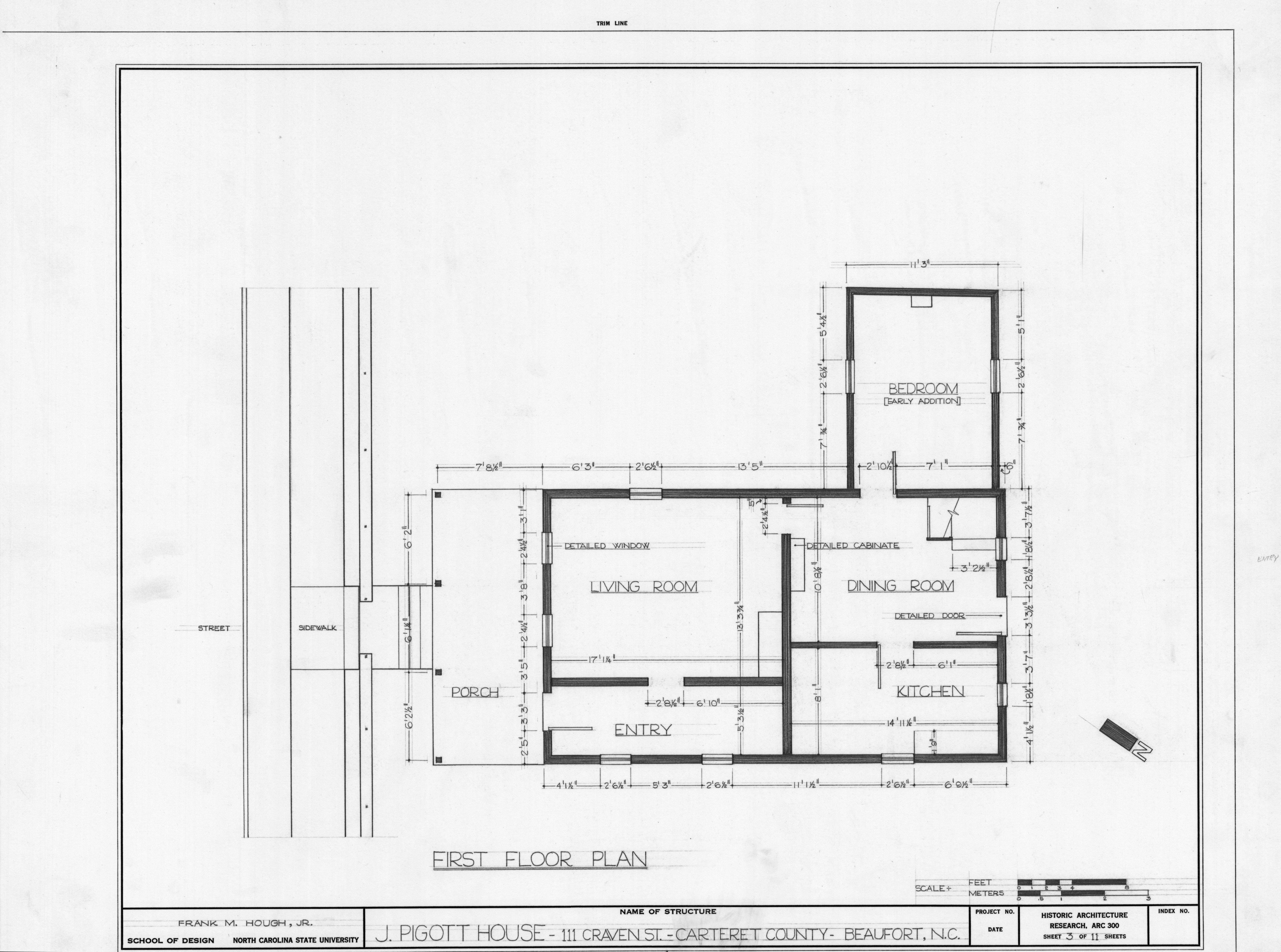 First Floor Plan Richard Rustell House Beaufort North
