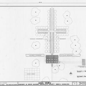 Site plan, Hill Airy, Granville County, North Carolina