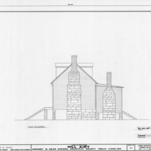 East elevation, Hill Airy, Granville County, North Carolina