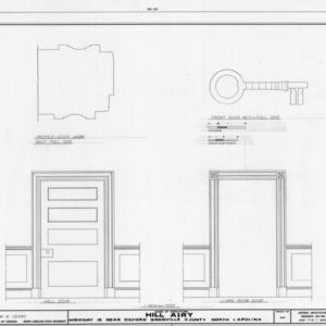Door details, Hill Airy, Granville County, North Carolina