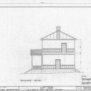 Cross section, White-Holman House, Raleigh, North Carolina