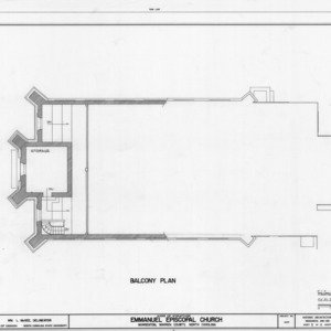 Balcony plan, Emmanuel Episcopal Church, Warrenton, North Carolina