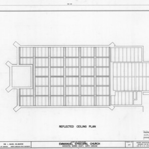 Ceiling plan, Emmanuel Episcopal Church, Warrenton, North Carolina