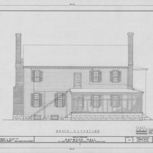 North elevation, Haywood Hall, Raleigh, North Carolina