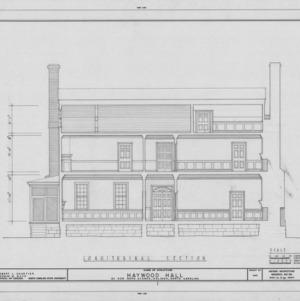 Longitudinal section, Haywood Hall, Raleigh, North Carolina
