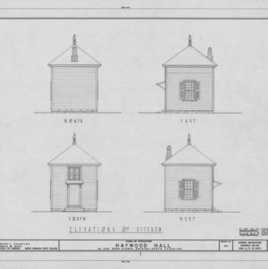Kitchen elevations, Haywood Hall, Raleigh, North Carolina