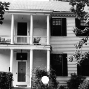 Partial view with balcony, Haywood Hall, Raleigh, North Carolina