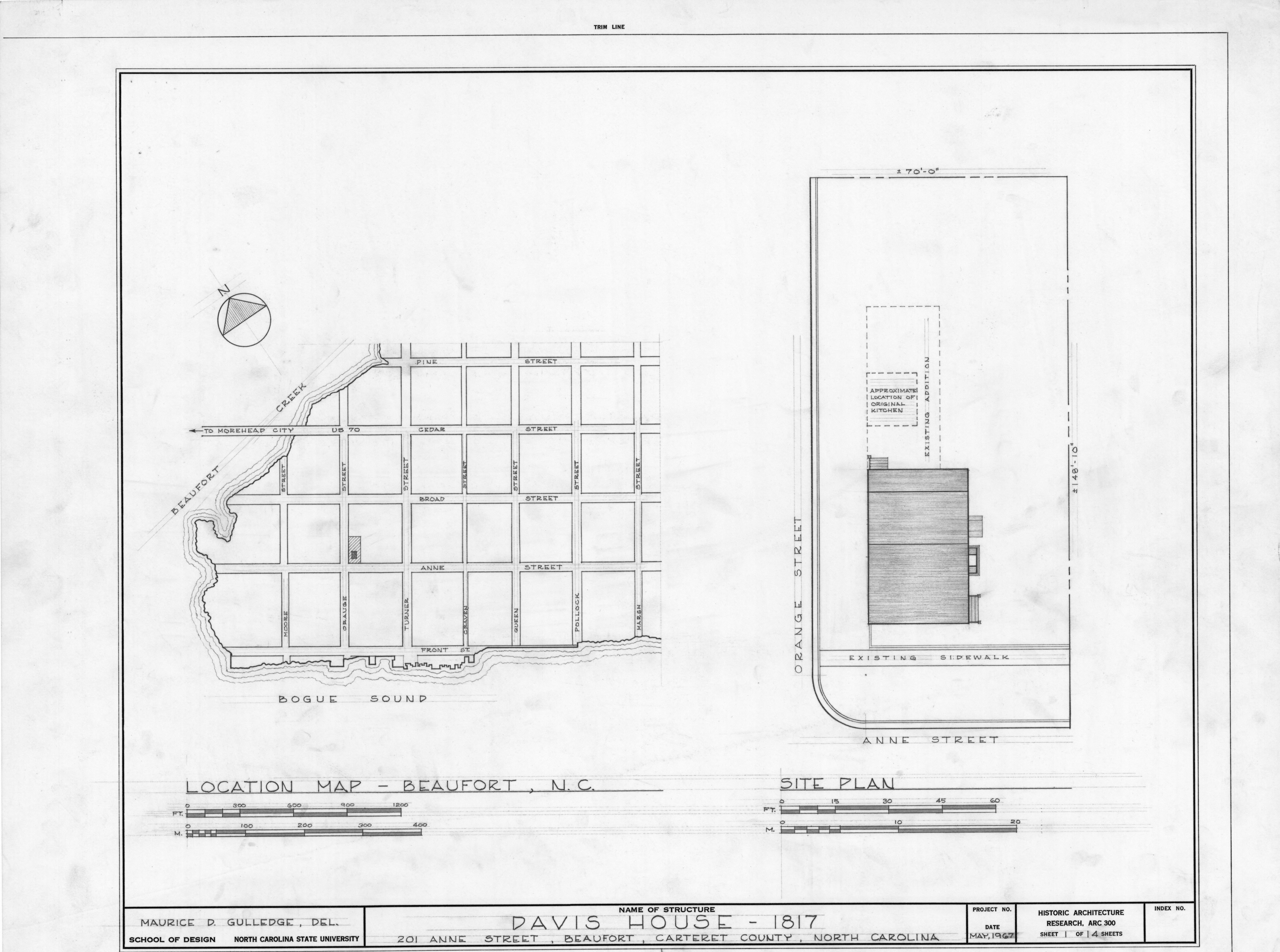 Site Plan And Location Map Davis House Beaufort North