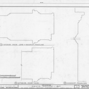 Door and trim details, Davis House, Beaufort, North Carolina
