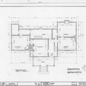 First floor plan, Hasell-Nash House, Hillsborough, North Carolina