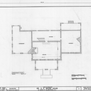 Basement plan, Hasell-Nash House, Hillsborough, North Carolina