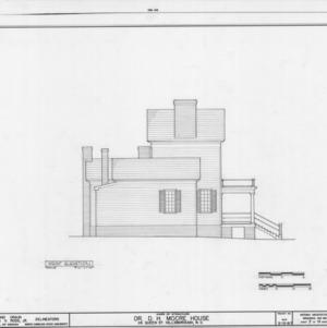 West elevation, Hasell-Nash House, Hillsborough, North Carolina