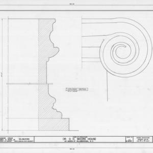 Column detail, Hasell-Nash House, Hillsborough, North Carolina
