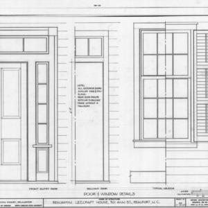 Door and window details, Leecraft House, Beaufort, North Carolina