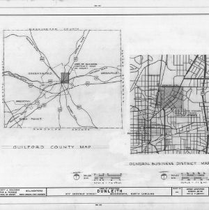Location maps, Dunleith, Greensboro, North Carolina