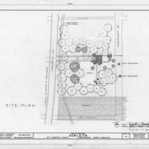 Site plan, Dunleith, Greensboro, North Carolina