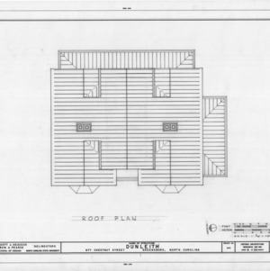 Roof plan, Dunleith, Greensboro, North Carolina