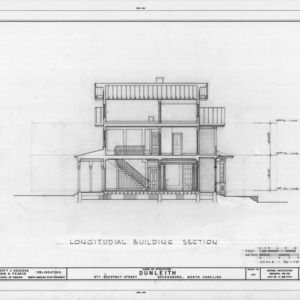 Longitudinal section, Dunleith, Greensboro, North Carolina