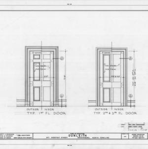 Interior door details, Dunleith, Greensboro, North Carolina